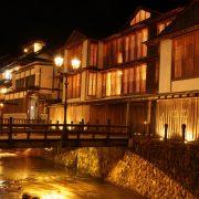 Most Japanese people love bathing in hot springs.